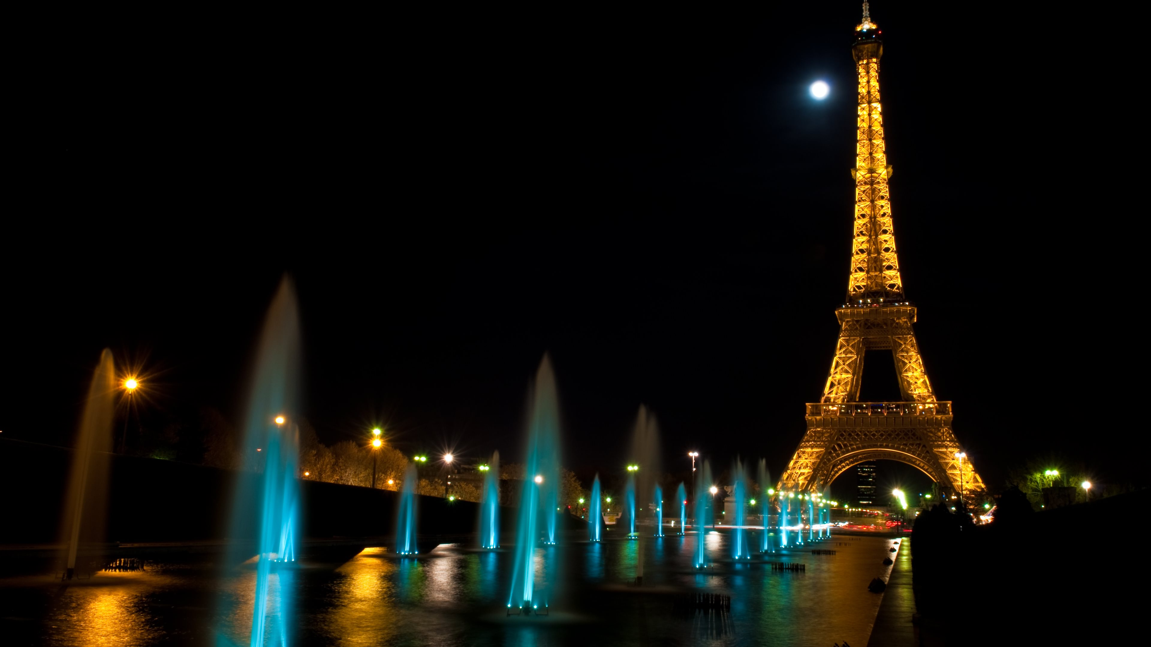 Paris at Night Tour Eiffel Wallpapers HD Wallpapers 3840x2160