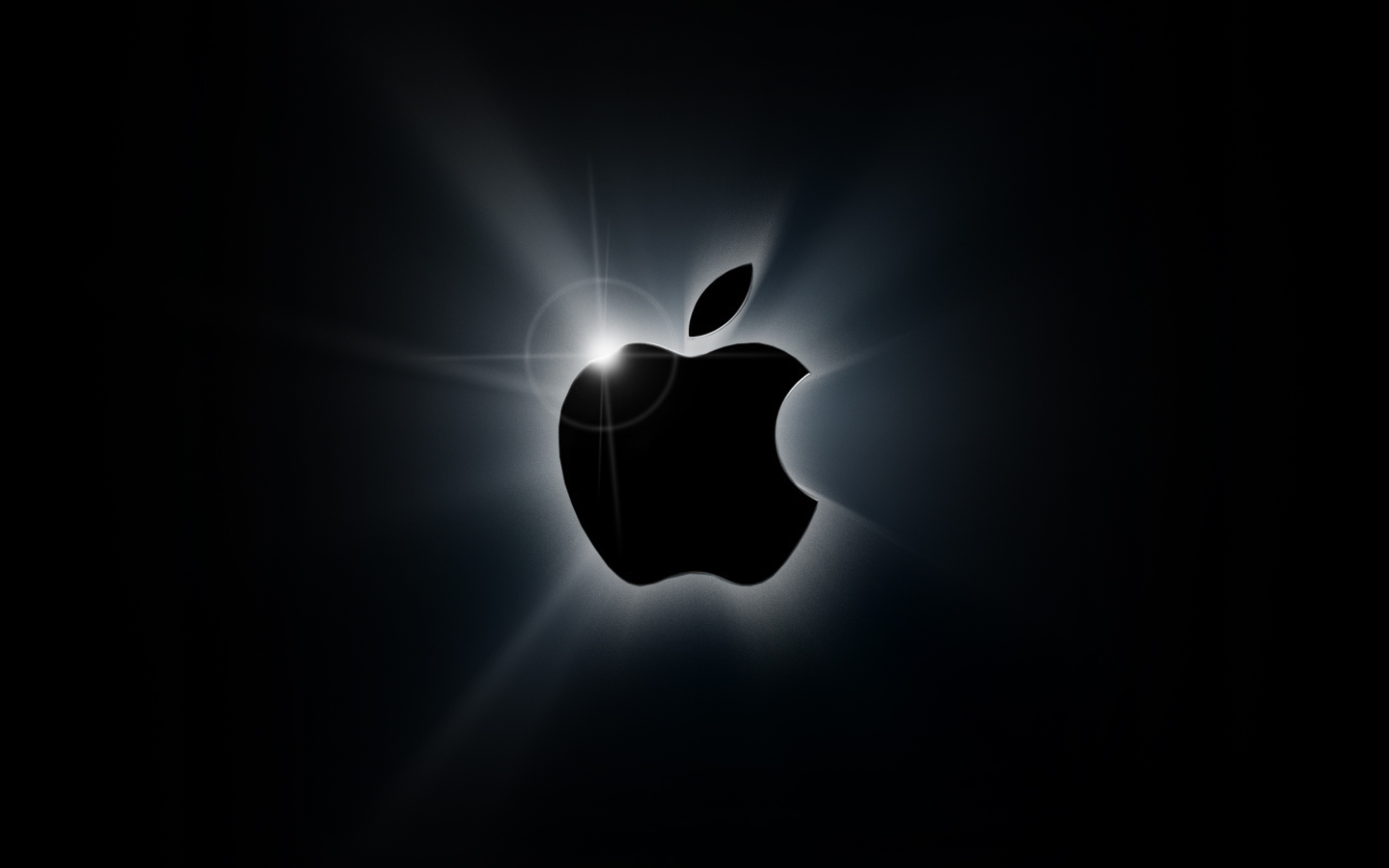 apple black logo wallpaper   iPhone Italia Blog 1440x900