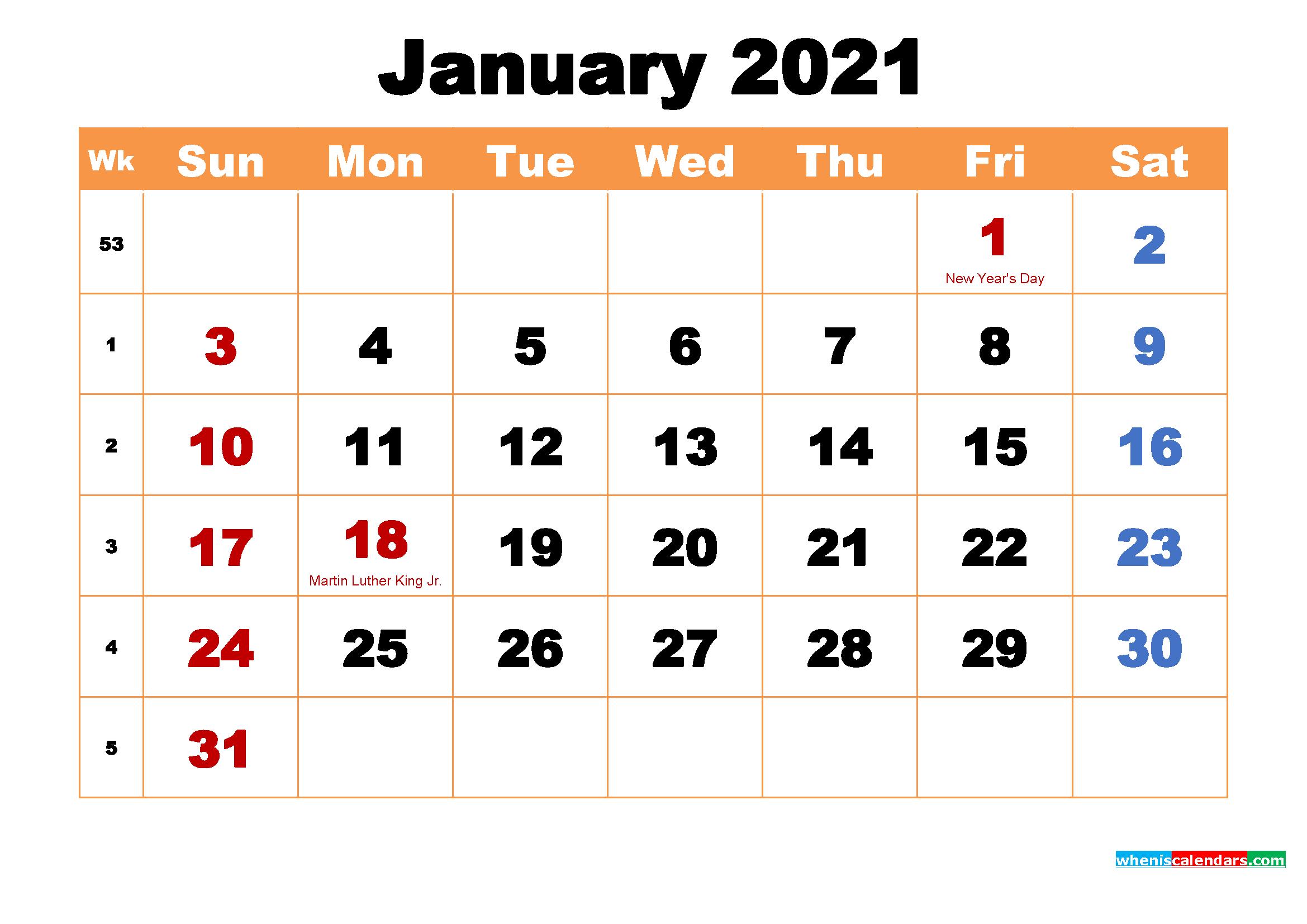January 2021 Calendar Wallpaper High Resolution 2339x1654