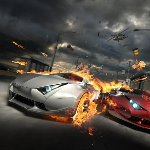 Fire Car Crash 500x500