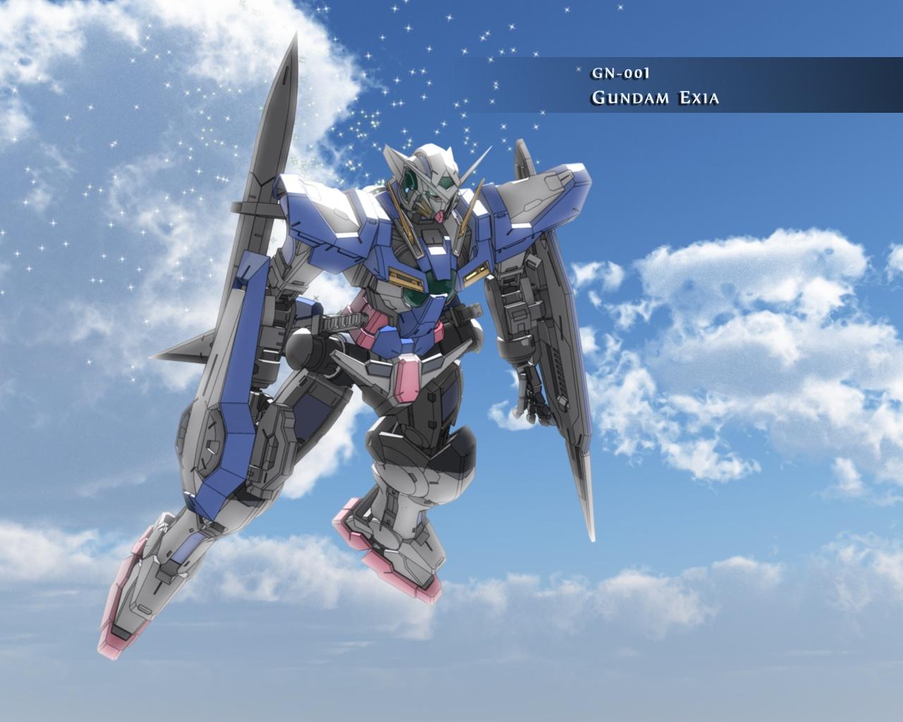Image   GN 001 Gundam Exia Sky Wallpaperjpg   Gundam Wiki 1280x1024