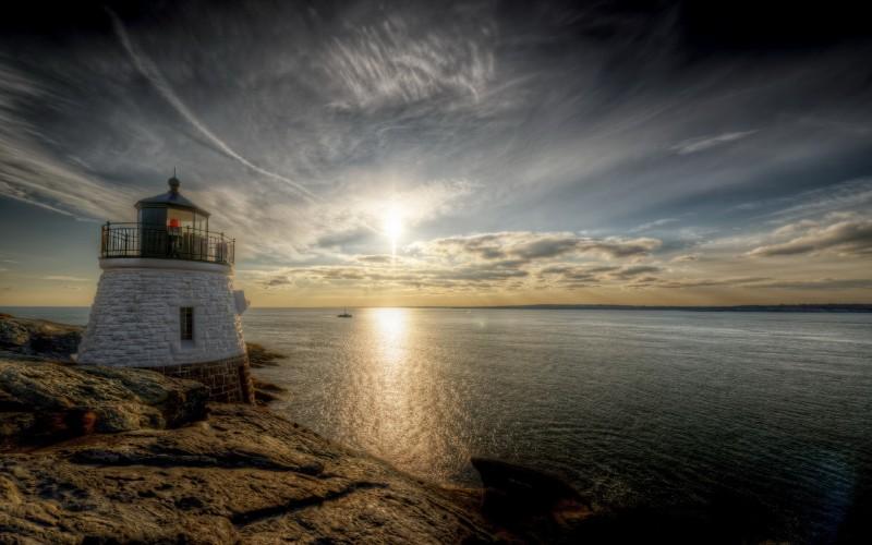 Wallpaper Rhode Island Castle Hill Light Newport United States 800x500