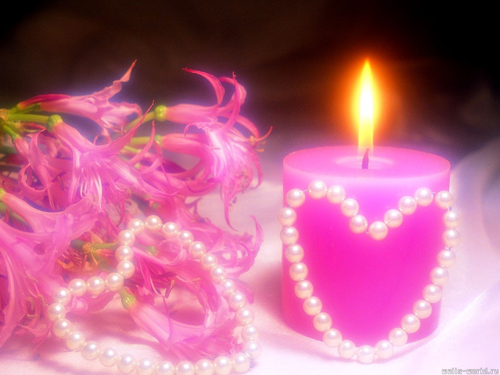 Desktop Wallpapers Pink Valentines Day Candle Desktop Backgrounds 1024x768