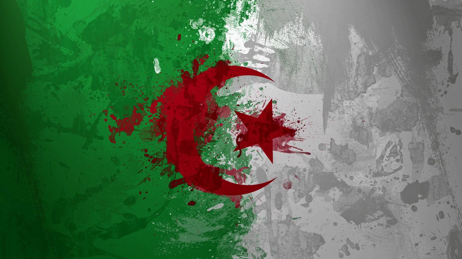 HD wallpaper Algeria flag Wallpaper Flare 1920x1080