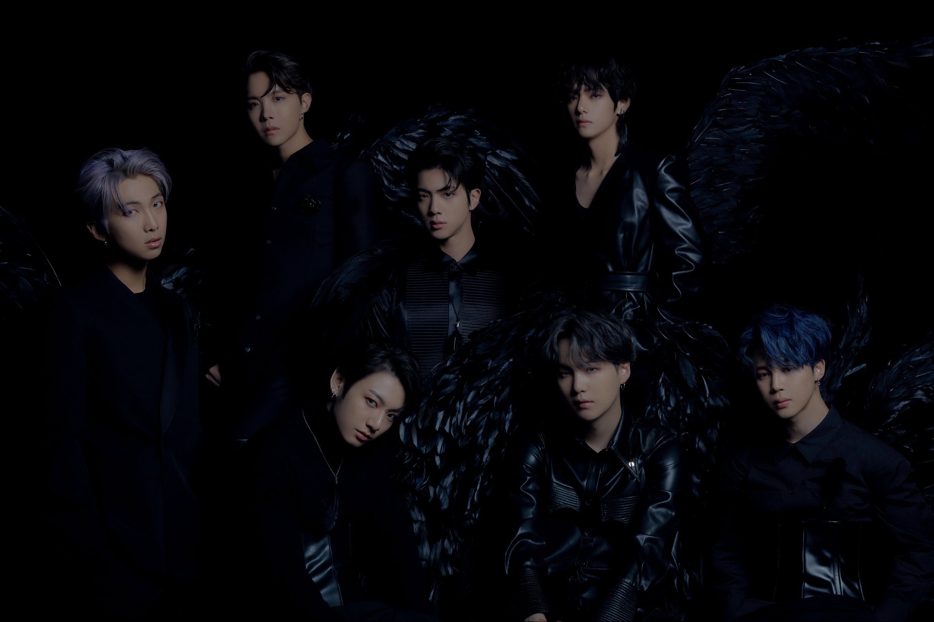 BTS Transforms Into Black Swans For Map Of The Soul 7 Concept 3000x1998