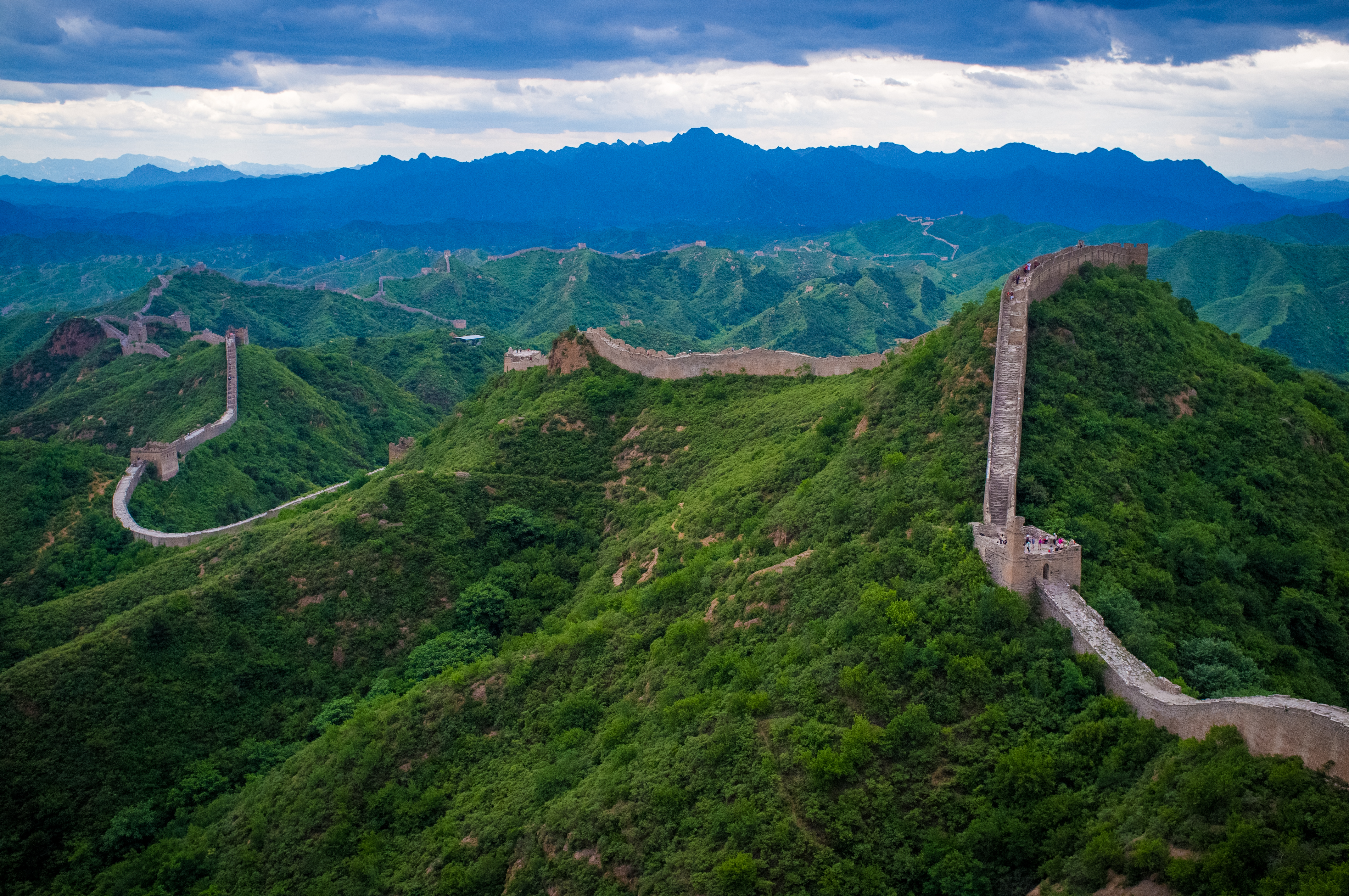 Great Wall of China From Spac HD Wallpaper Background Images 4288x2848