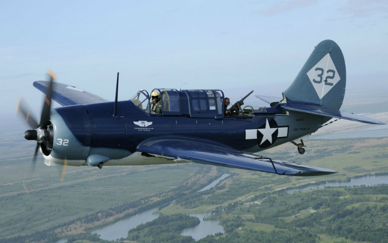 Curtiss SBD 2C Helldiver wallpapers Curtiss SBD 2C Helldiver 1280x804