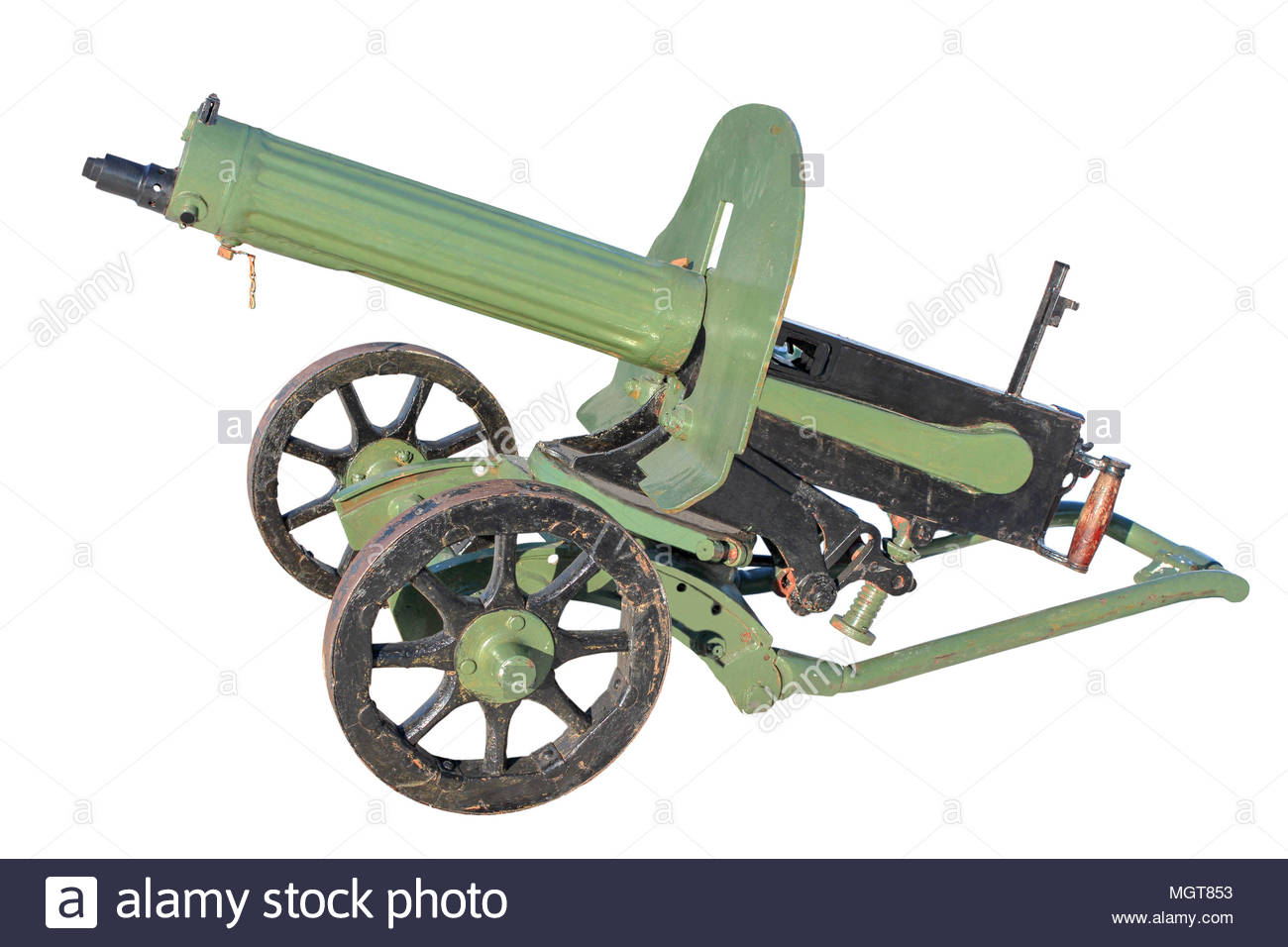Maxim gun of the early twentieth century isolated on a white 1300x956